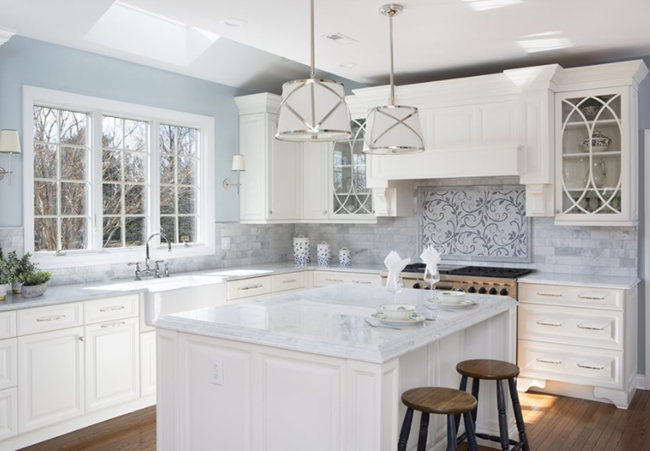 Kitchen Islands in White