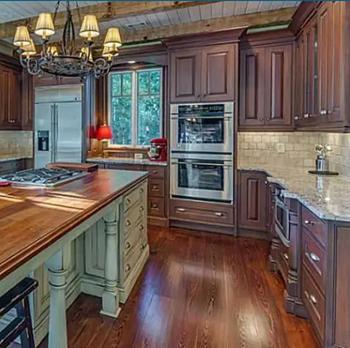 Dark Wood Cabinets With Light Wood Floors Kitchen Interior Design Nj Pa